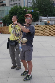 Flying a Kite in Urumqi