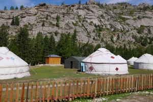 Yurts are the local nomadic preferred housing