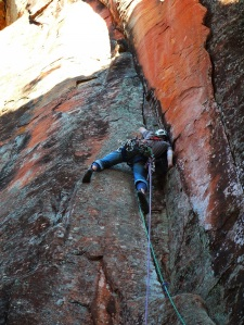 Darryl first ascent of Morass