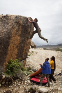 Raul on a fun traverse Photo: Chris Miller