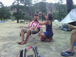 Kate and Ru Pines campground hair management