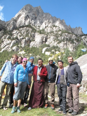 All of us with my monk friend Cheeka