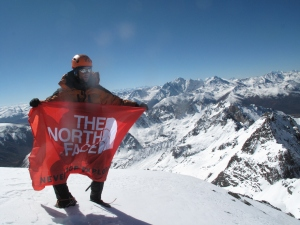 On the Summit of previously unclimbed peak 5446m