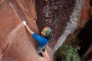 Geordie Yip climbing Faraway Corner